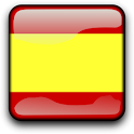 Spain Flag Clock Widget