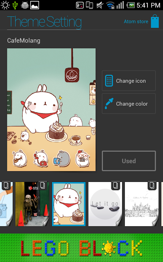 Molang Cafe Atom Theme- screenshot