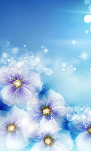 絢麗透明發光的花朵
