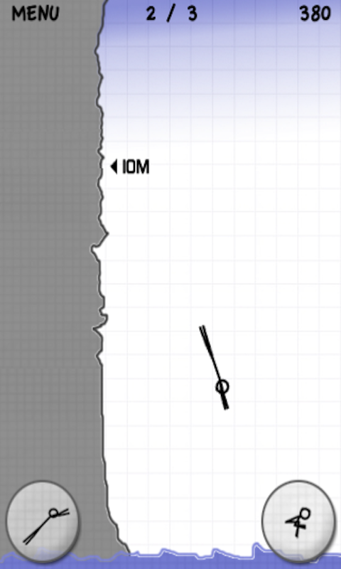 Stickman Cliff Diving (Free) - screenshot
