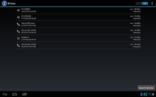 Screenshot of Bluetooth scanner & widget