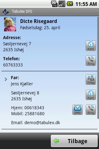 Tabulex Forælder – screenshot