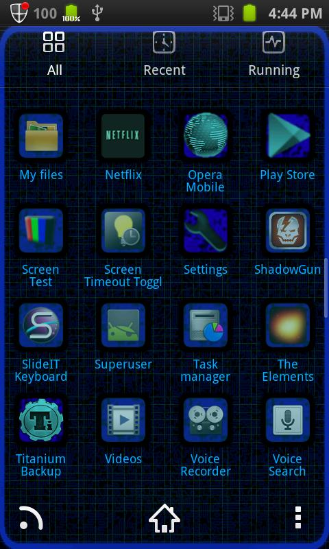 Hacker [Blue]Go Launcher Theme - screenshot