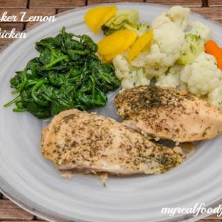 Crock Pot Lemon Garlic Chicken.