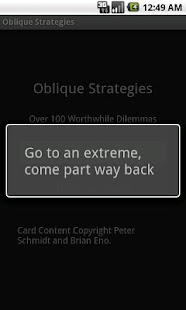 Deprecated-Oblique Strategies - screenshot thumbnail