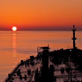 TURKEYS SUNSET AT SEA by Hernan Sto Tomas - Landscapes Sunsets & Sunrises