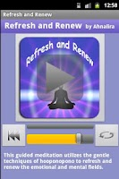Screenshot of Refresh and Renew Meditation