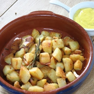 Fried Potatoes With Aioli.