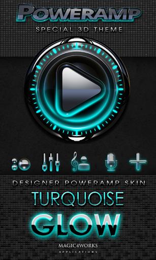 Poweramp skin Turquoise Glow