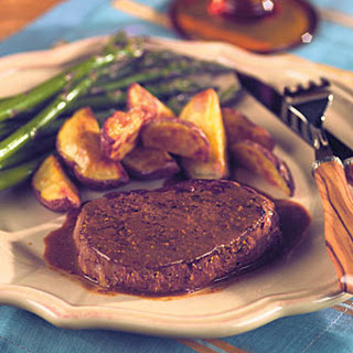 Tenderloin Steaks with Horseradish Mustard Sauce