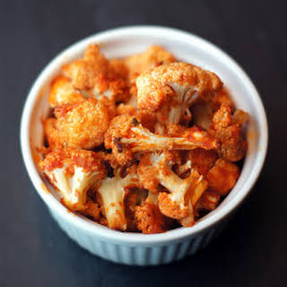 Roasted Buffalo Cauliflower.