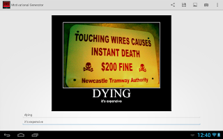 Screenshot of Motivational Generator