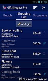 Gift Shopper Pro- screenshot thumbnail
