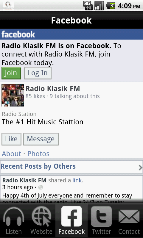 Radio Klasik FM - screenshot