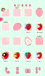CUKI Theme Pink Strawberry