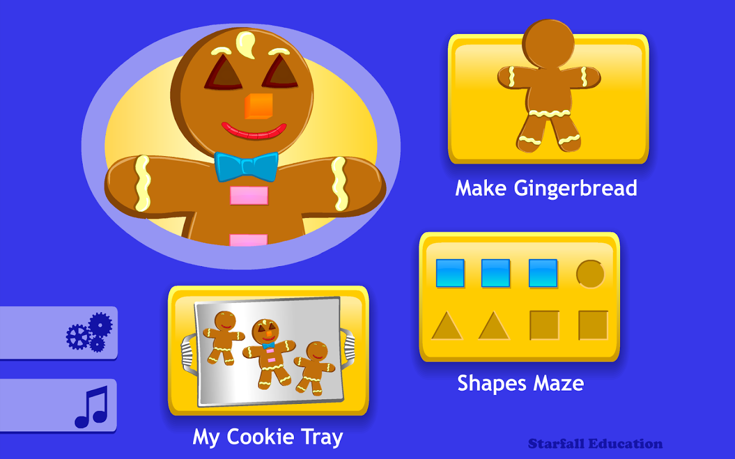 Starfall Gingerbread - screenshot