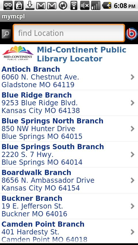 Mid-Continent Public Library - screenshot