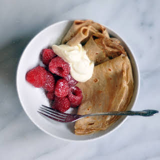 Rye Flour Crêpe Bowls with Lemon Crème Fraîche (For Two).