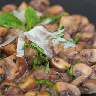 Mushrooms in Creamy Wine Sauce.