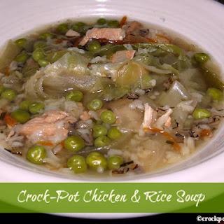 Crock-Pot Chicken & Rice Soup.