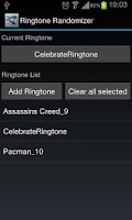 Screenshot of Ringtone Randomizer