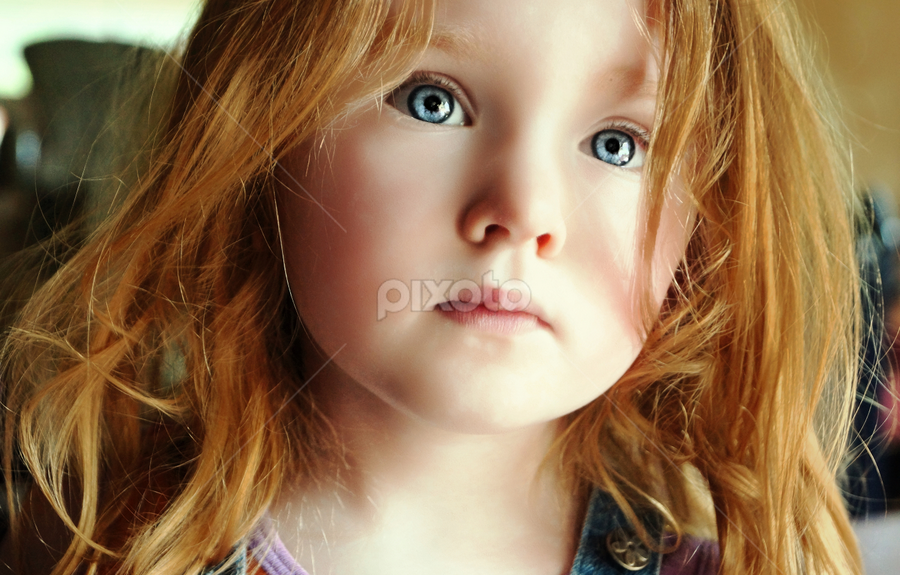 Wild Hair by Cheryl Korotky - Babies & Children Child Portraits ( wild hair, a heartbeat in time photography, amazing faces, beautiful children, child model nevaeh, portrait, red head )