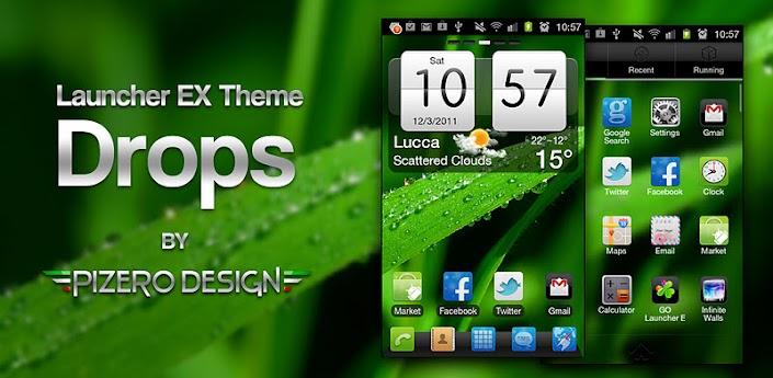 Drops GO Launcher EX Theme v1.0