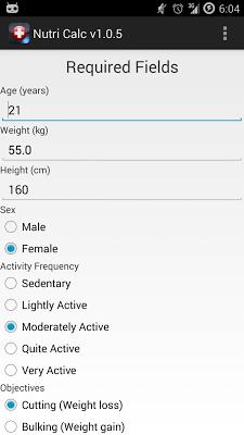 Nutri Calc - screenshot