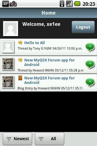 MyQSX Forum- screenshot