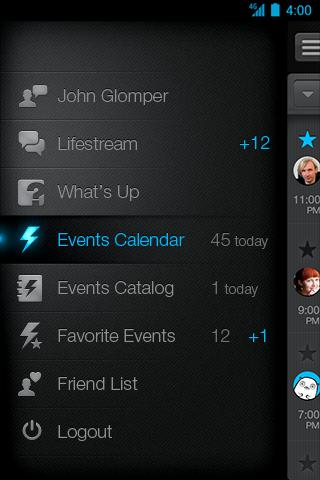 Glomper events- screenshot