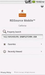 REiSource Mobile California™- screenshot thumbnail
