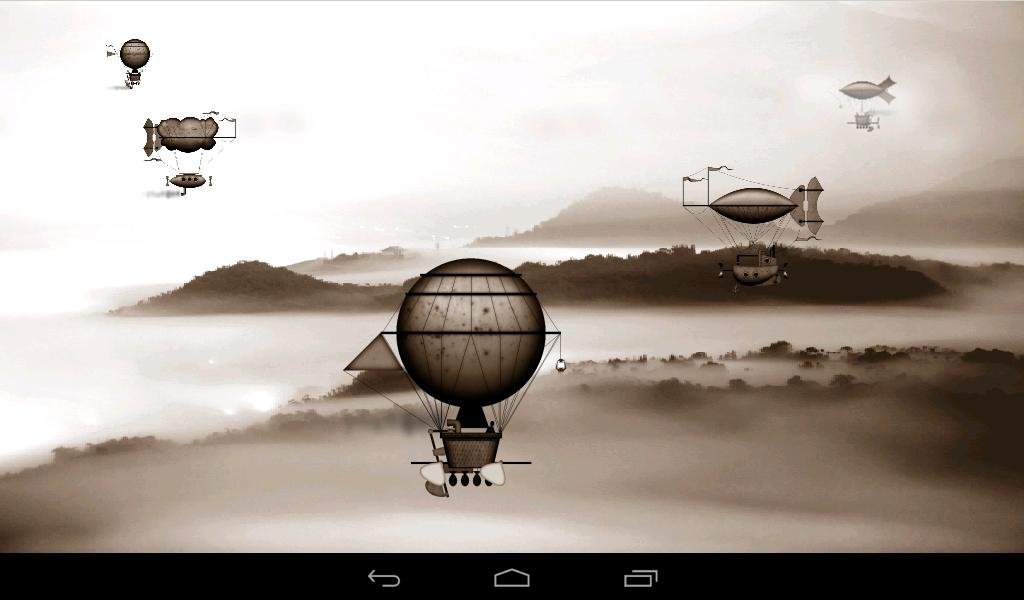 Steampunk Airships Wallpaper- screenshot