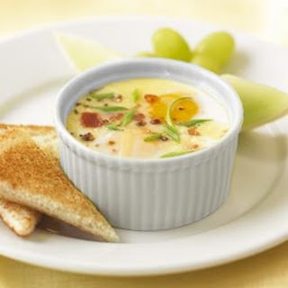 Coddled Eggs with Bacon & Goat Cheese