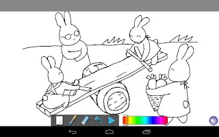 Screenshot of Coloring Doodle - Bunny GO