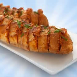 Accordion Bread with Three-Cheese Spread.
