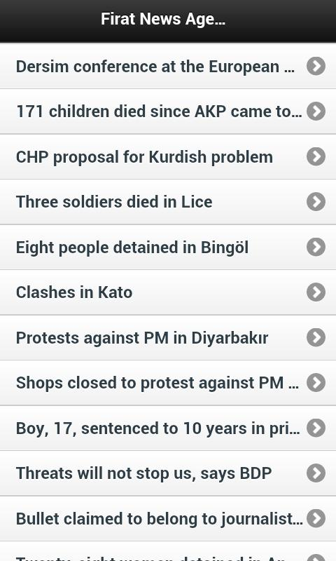 Firat News Agency - screenshot