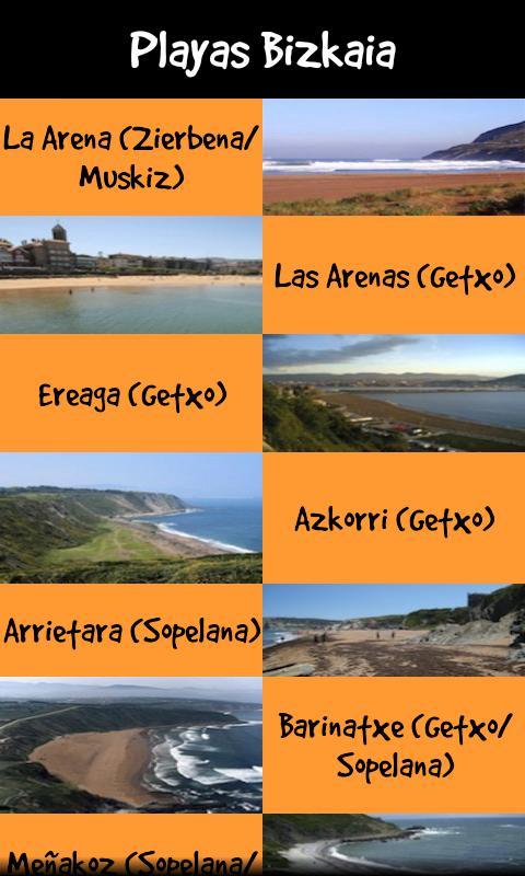 Playas Euskadi: captura de pantalla