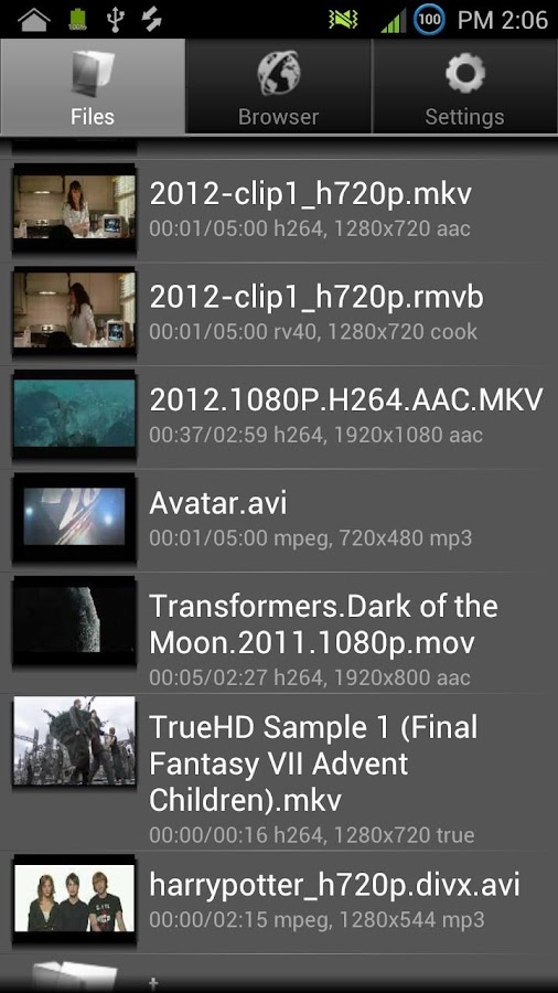Yxplayer2 - screenshot