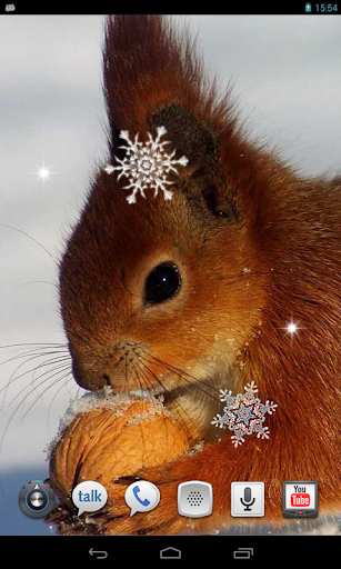 Snowfall Animals HD LWP