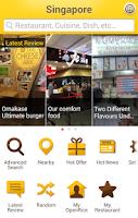 Screenshot of OpenRice Singapore