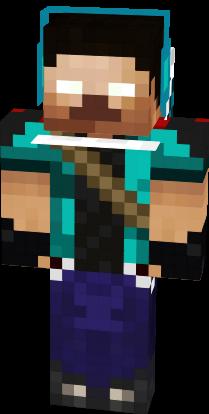 Minecraft Skin Herobrine Herobrine Hunter HD | ...