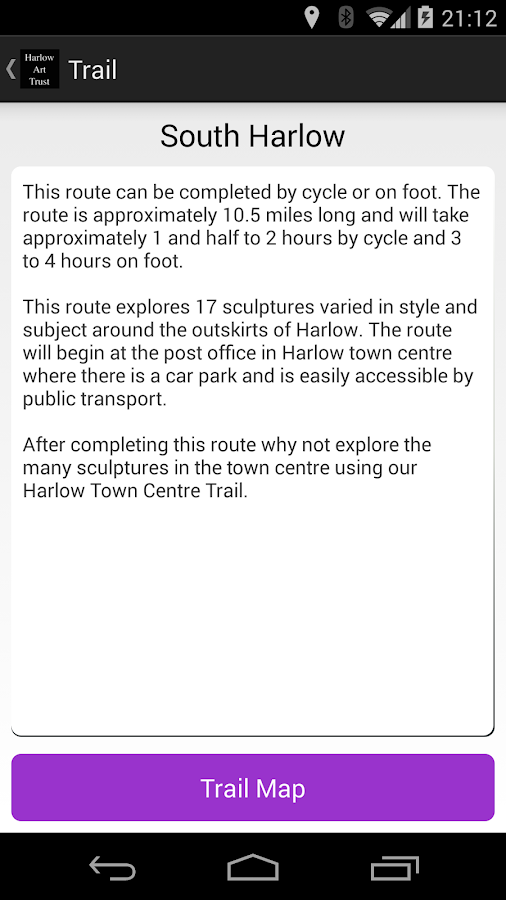 Harlow Sculpture Trails- screenshot