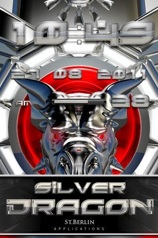 Silver Dragon digital Clock