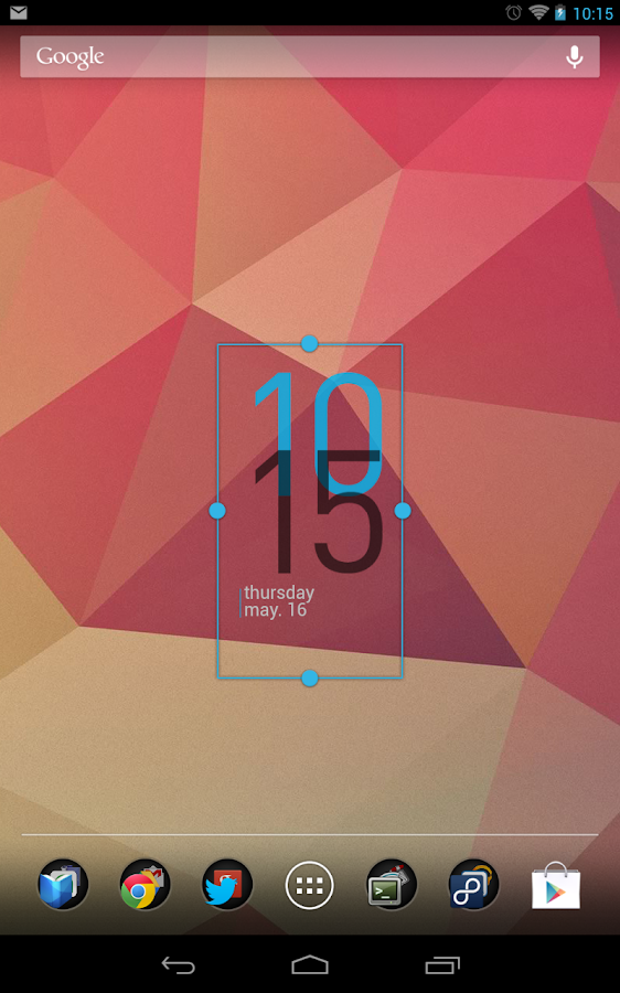 Minimal Clock Widget - screenshot