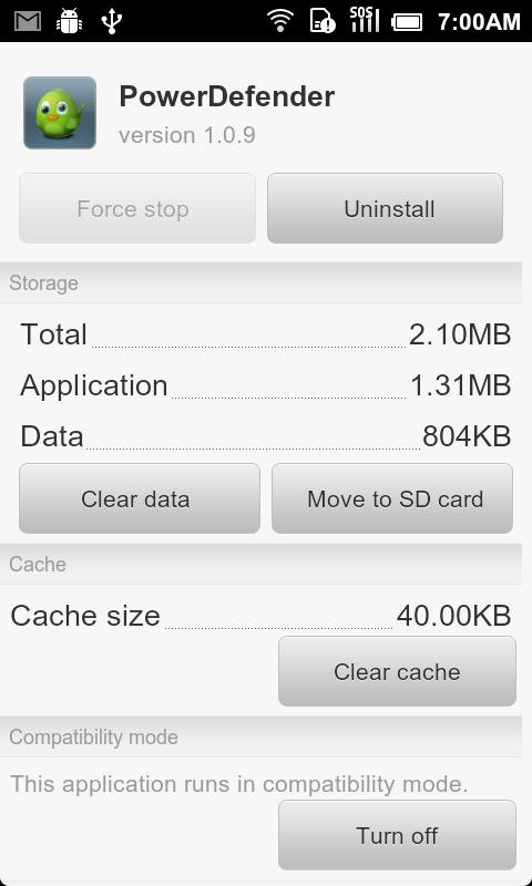 App2sd - Move apps to sdcard - screenshot
