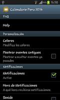 Screenshot of Calendario Feriados Peru