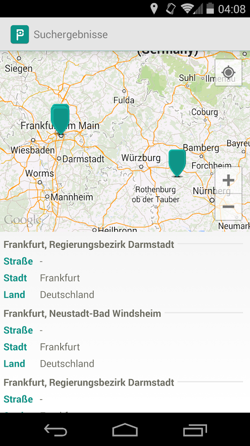 ParkDa - Parken in Deutschland - screenshot