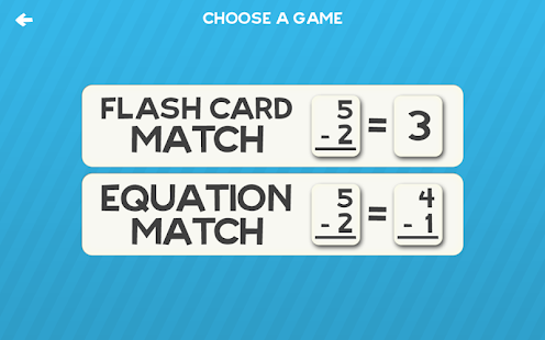 Subtraction Flash Card Match- screenshot thumbnail