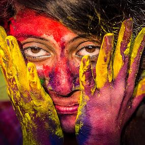 Game of Holi 2 by Rajkumar Bose - News & Events Entertainment ( color, kolkata, canon 5d mark iii, india, holi, Emotion, portrait, human, people,  )