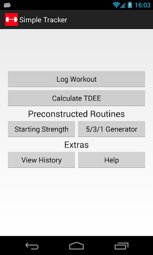 Simple Workout Log